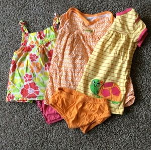 Carter's 12 month bundle, 3 bright colored dresses
